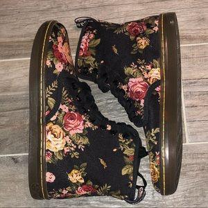 Canvas floral Dr. Martens boot